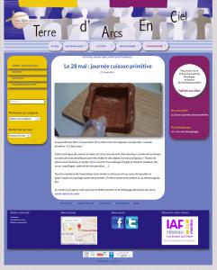 Page du site de l'association Terre d'Arcs En Ciel